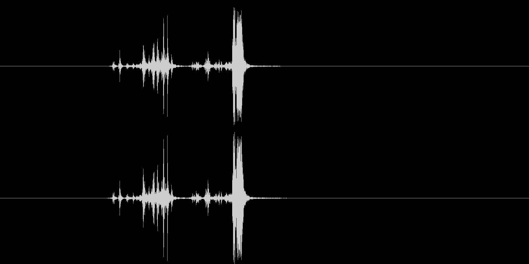 カッシャ(銃弾を装填する音01)の未再生の波形