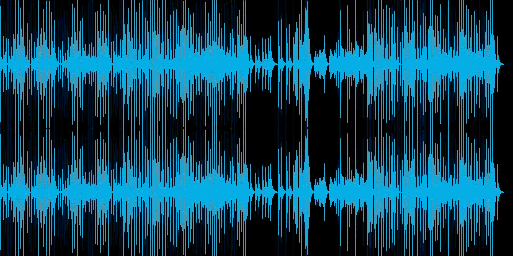 ピアノとリズムをメインとしたトラックで…の再生済みの波形