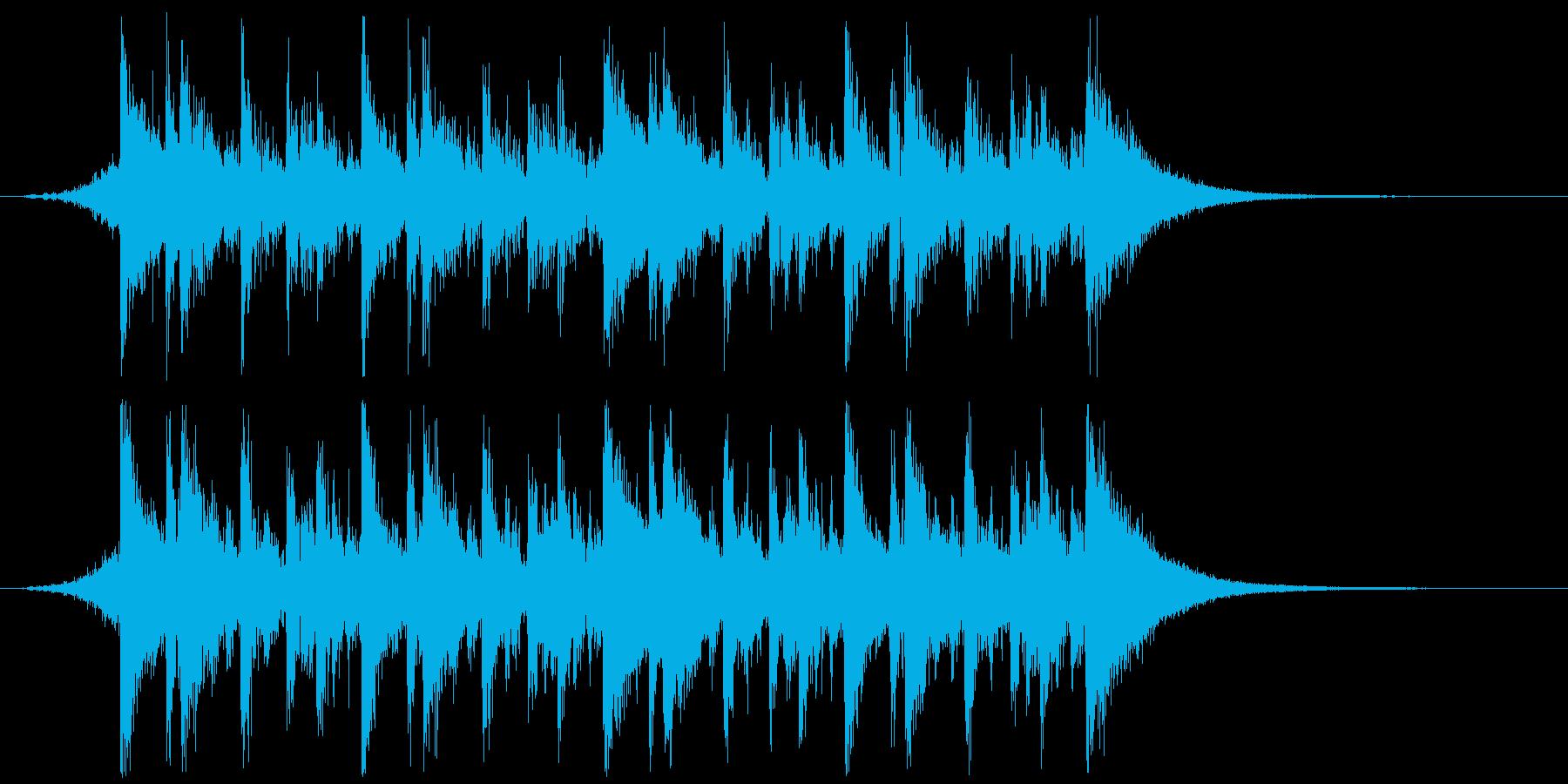 中華、カンフー演武の入場/あおり(後半)の再生済みの波形