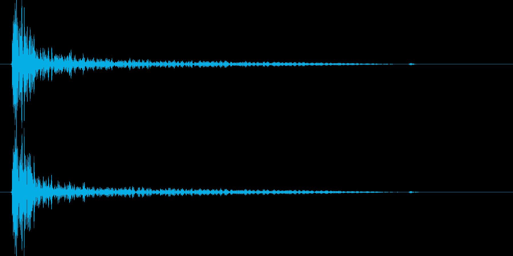 大砲効果音の音量をCDレベルに上げたものの再生済みの波形