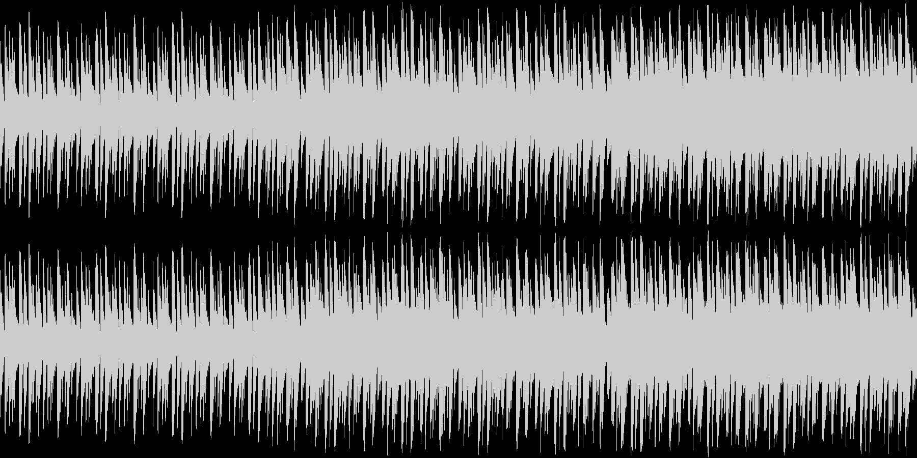 勇ましい感じな曲(ループ仕様)の未再生の波形
