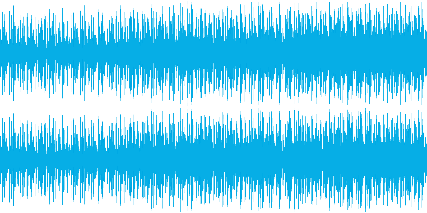 勇ましい感じな曲(ループ仕様)の再生済みの波形