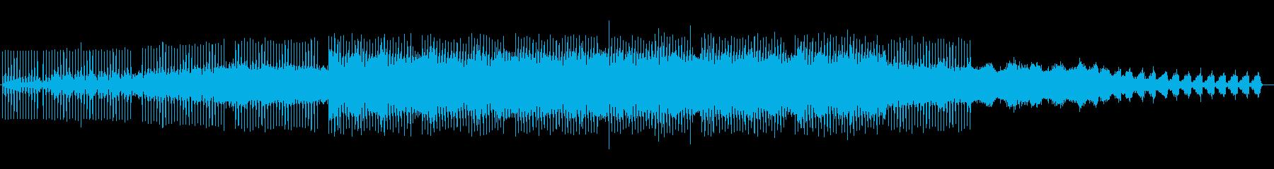 神秘的なテクノポップの再生済みの波形