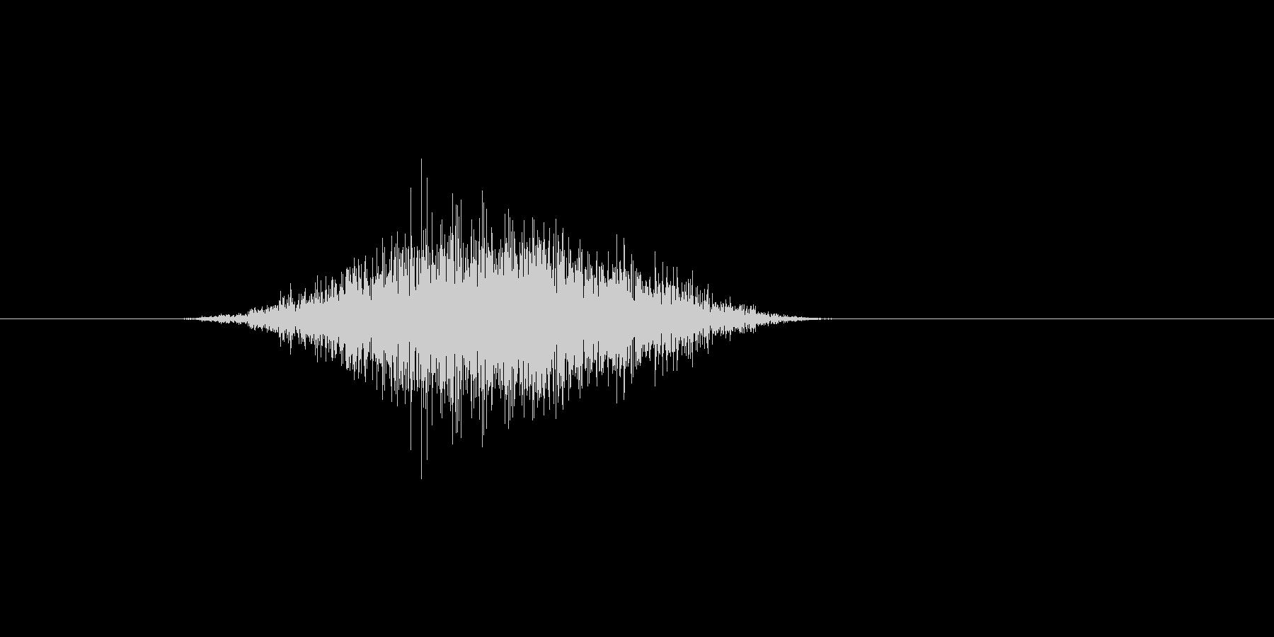 (鼻をすする)の未再生の波形