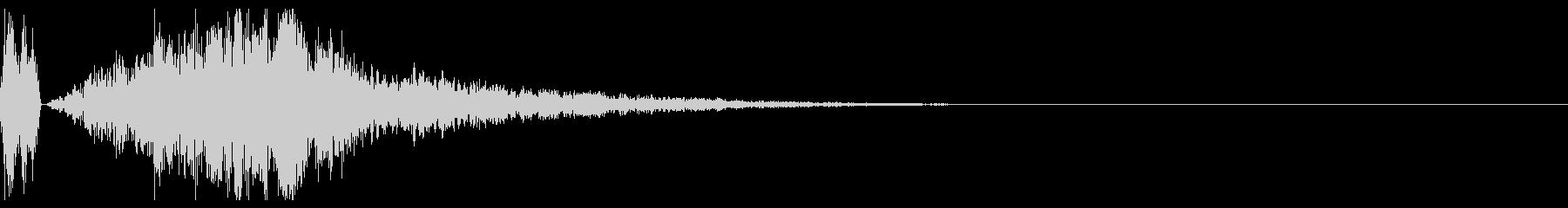 シュポーン (ワープするような音)の未再生の波形