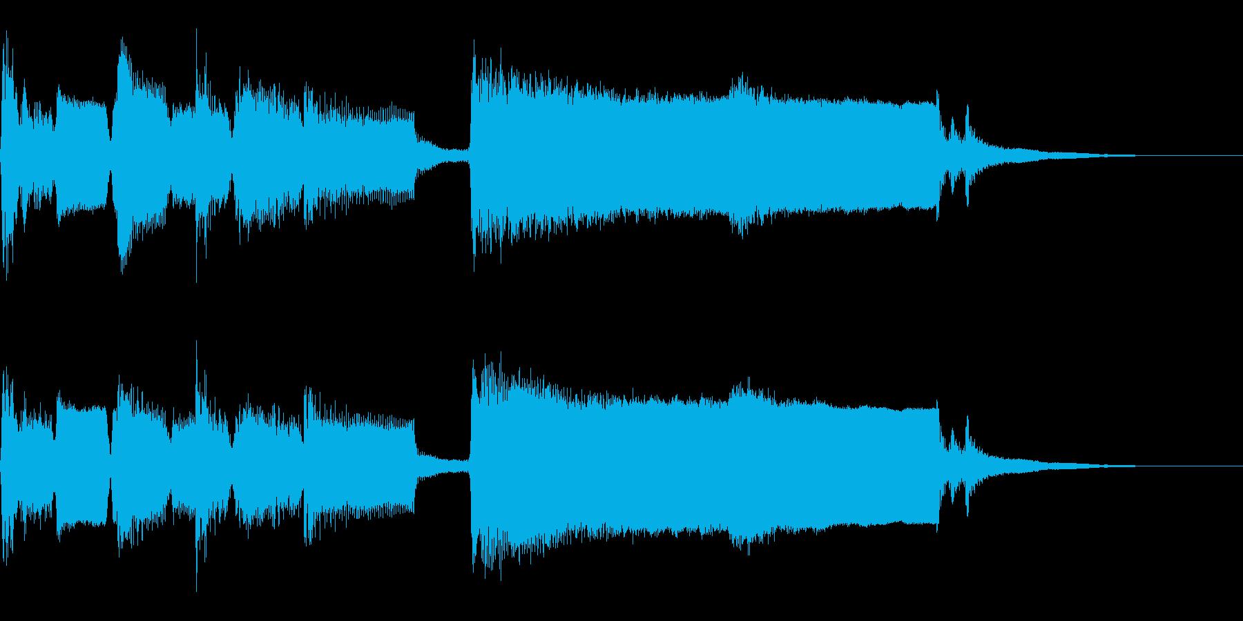 ジャズジングル、スパイ、夜更けのバーの再生済みの波形