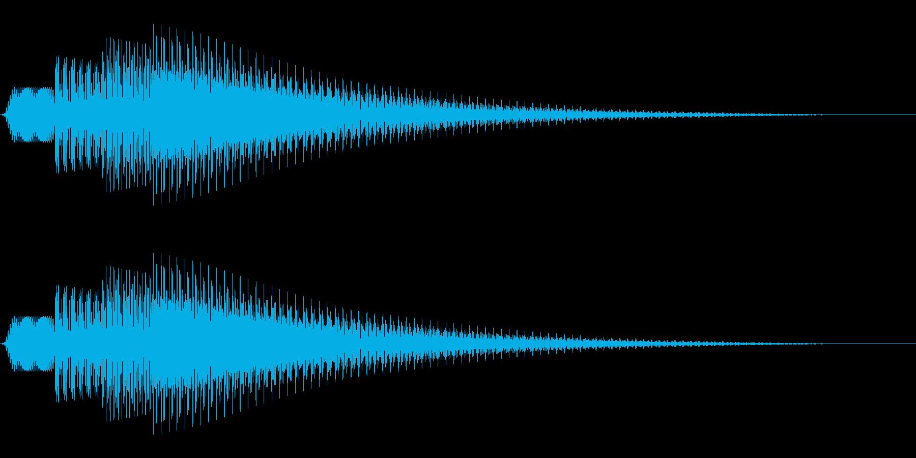 シンプルな通知音_03の再生済みの波形