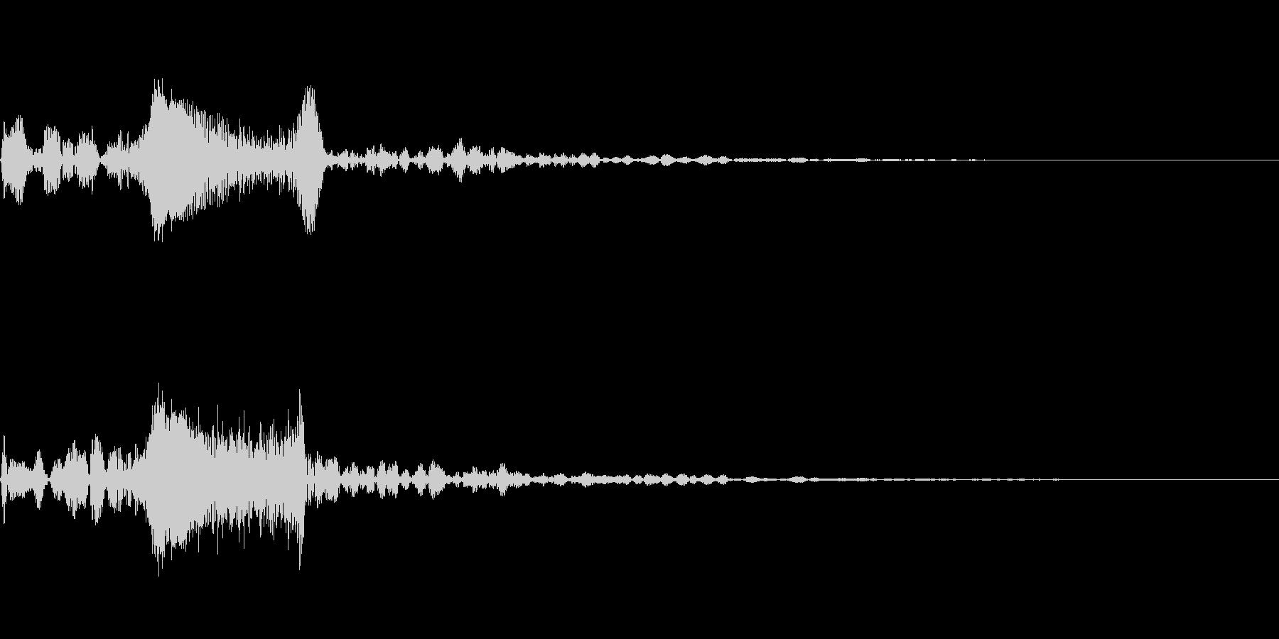 [シュン]キャンセル音の未再生の波形