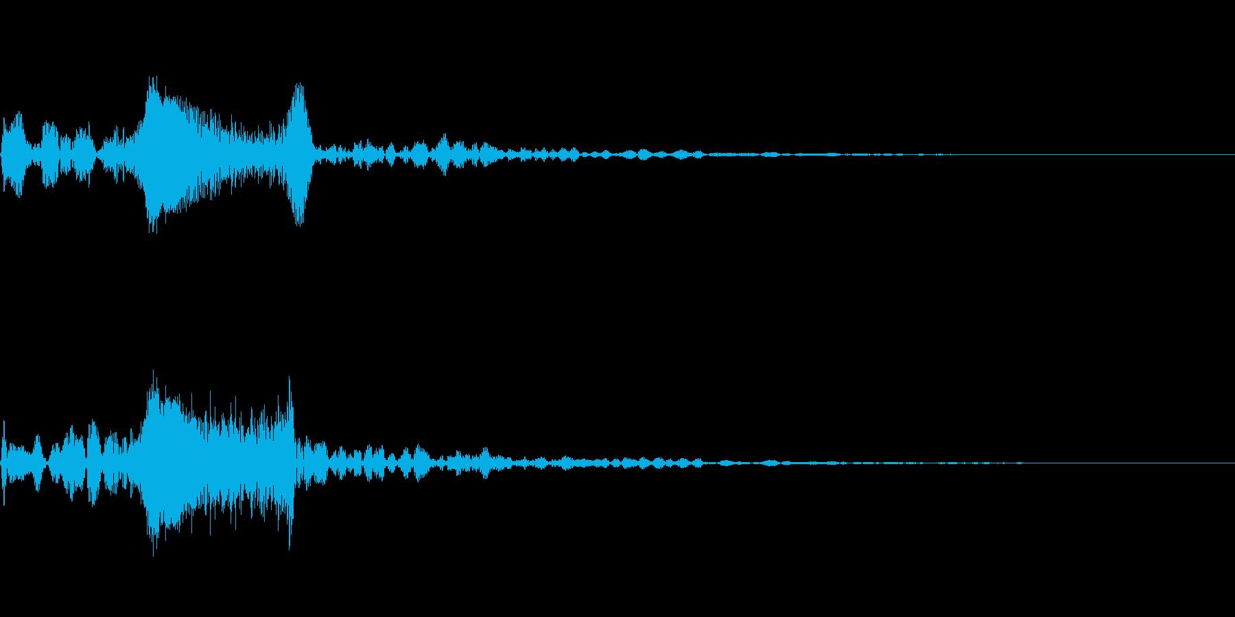 [シュン]キャンセル音の再生済みの波形