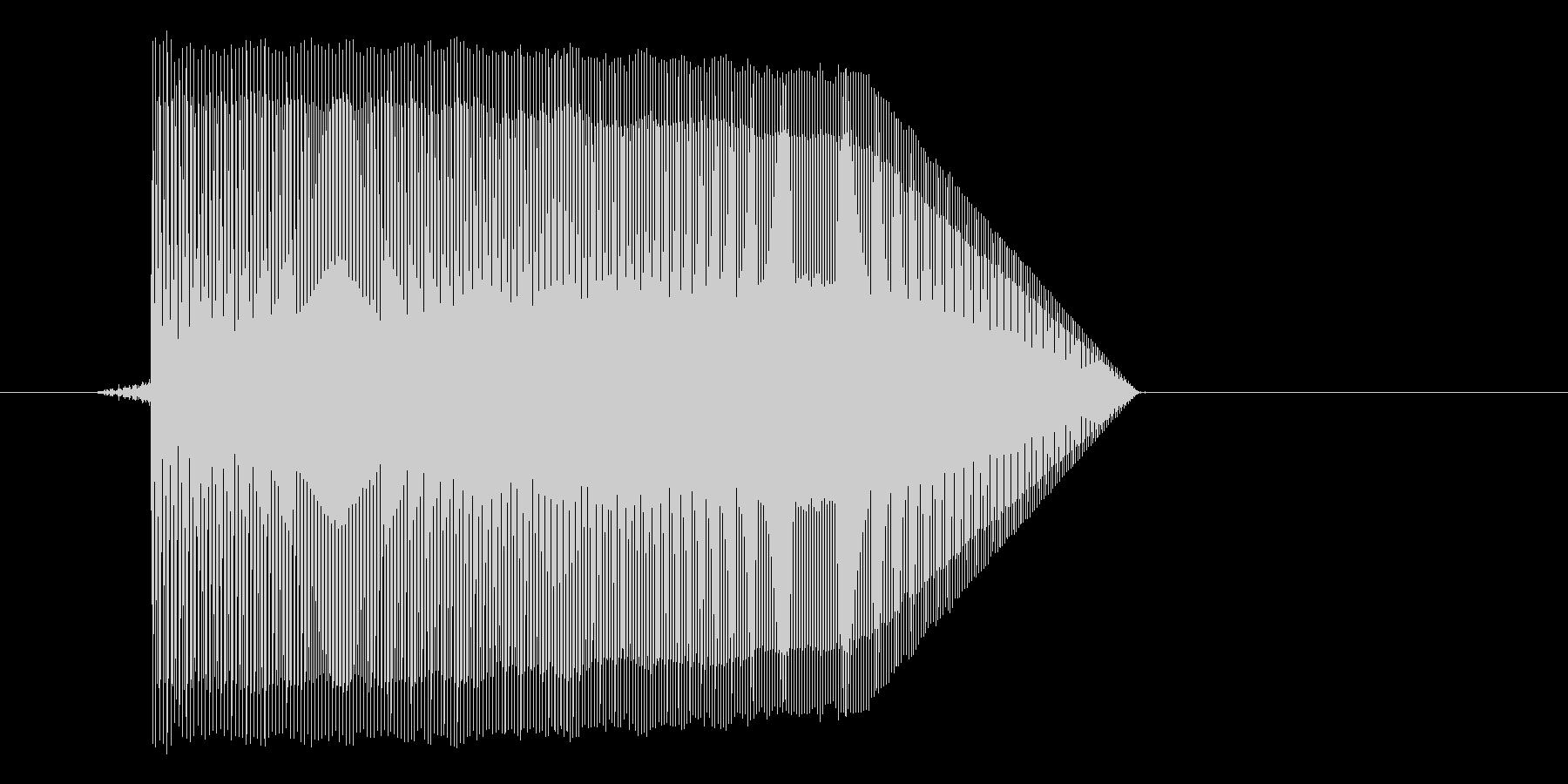 ゲーム(ファミコン風)ジャンプ音_040の未再生の波形