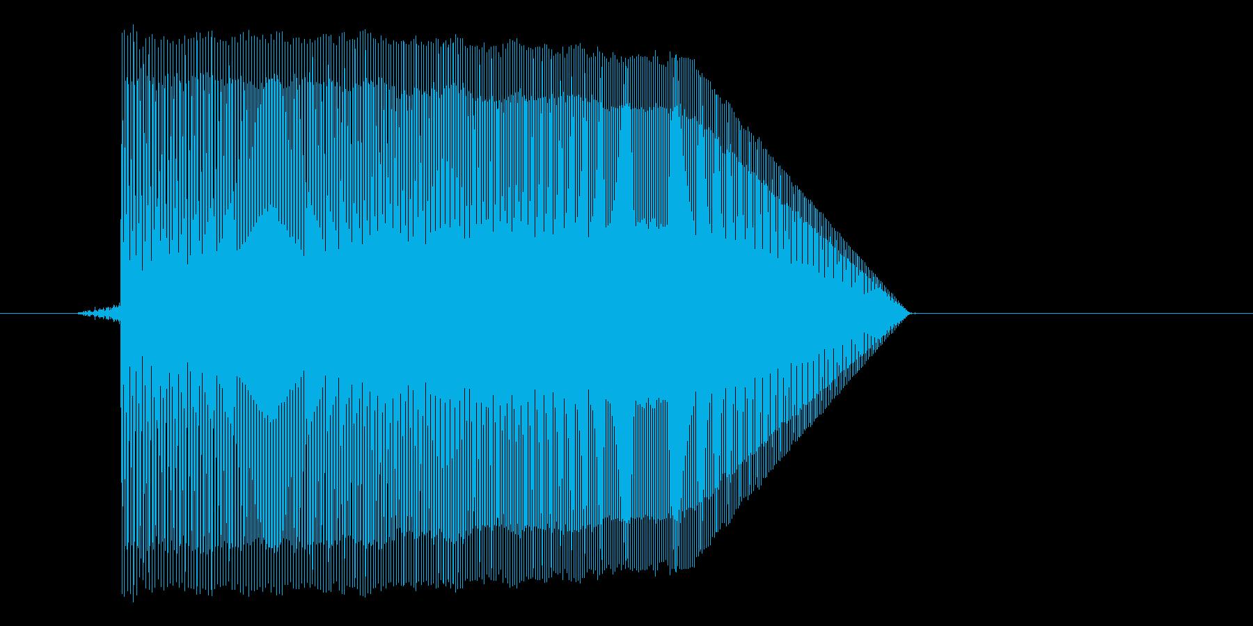 ゲーム(ファミコン風)ジャンプ音_040の再生済みの波形