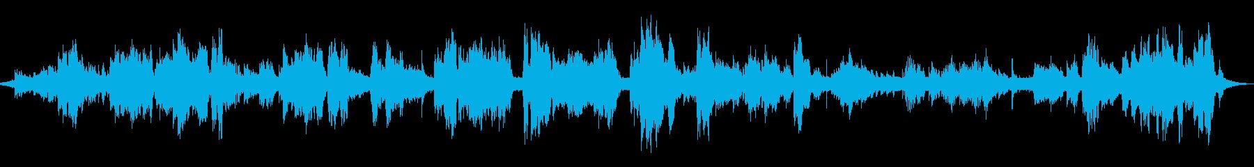 環境音を取り入れた日本の伝統的音楽の再生済みの波形
