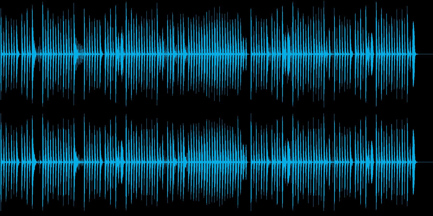 コミカルでほのぼのした雰囲気の曲の再生済みの波形