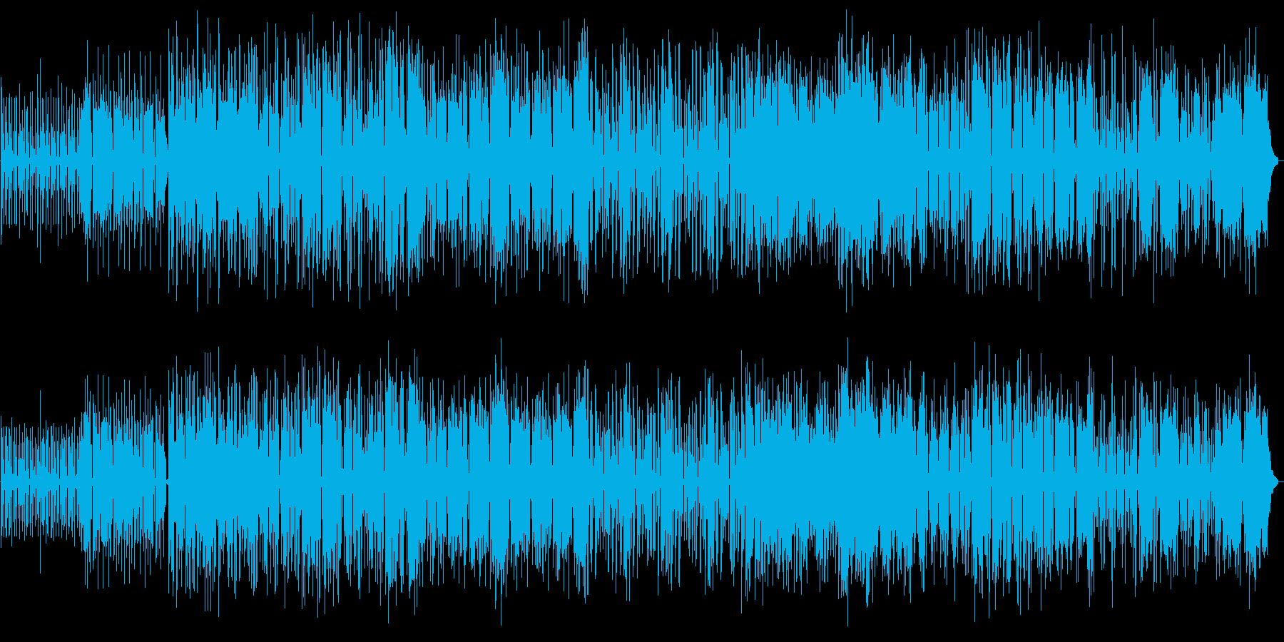 明るく疾走感のあるシンセサウンドの再生済みの波形