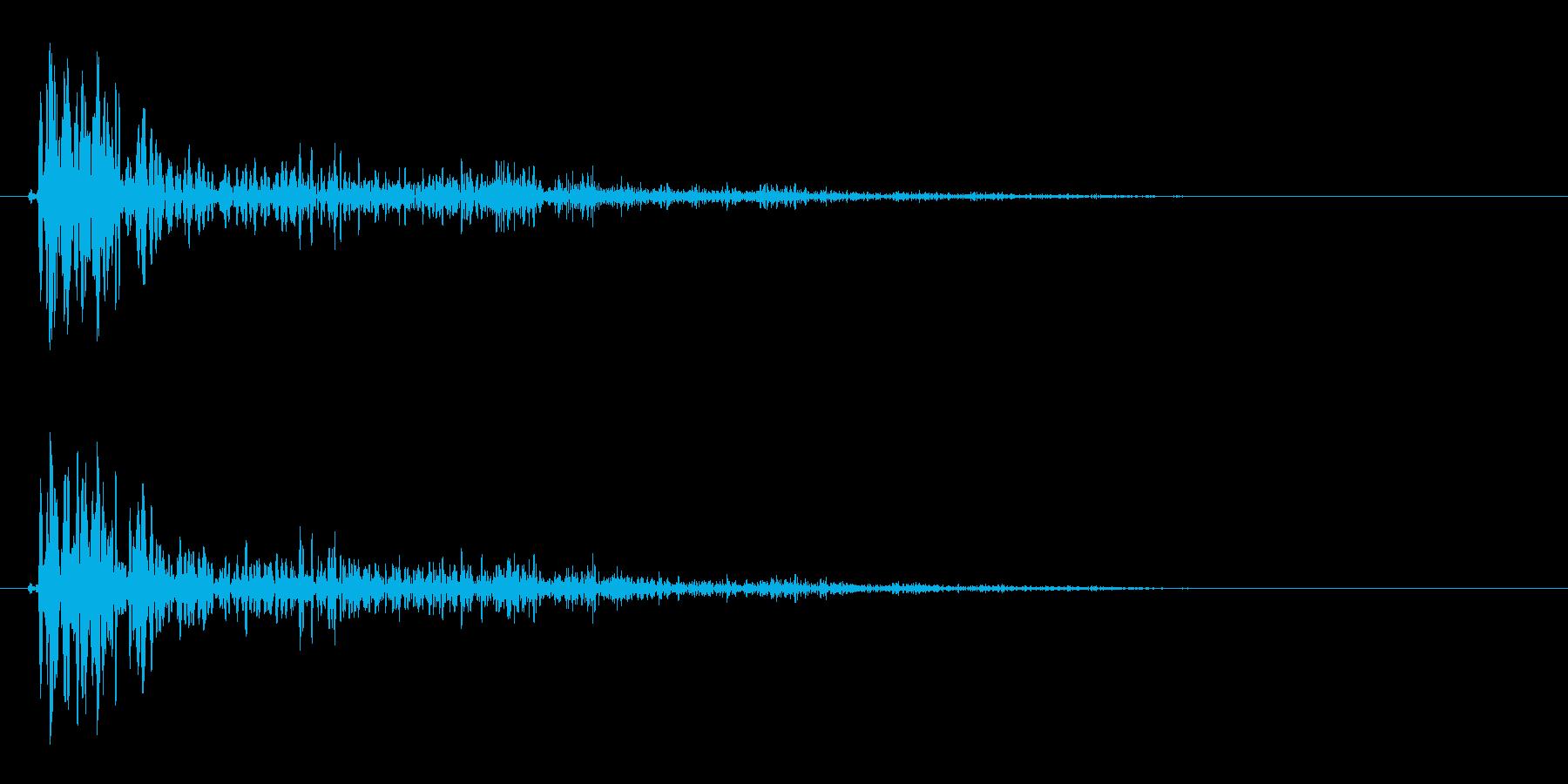バンッ!(低めの物の破裂音)の再生済みの波形