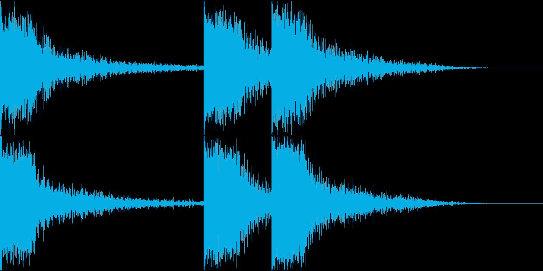 サスペンス 衝撃の事実 効果音の再生済みの波形