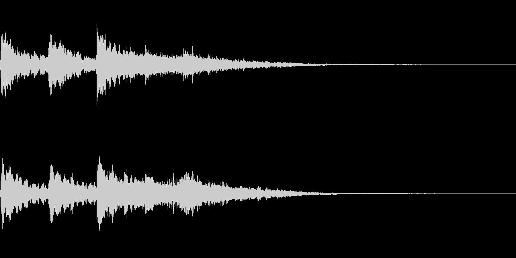 三連続テロップ~0.7秒間隔~の未再生の波形