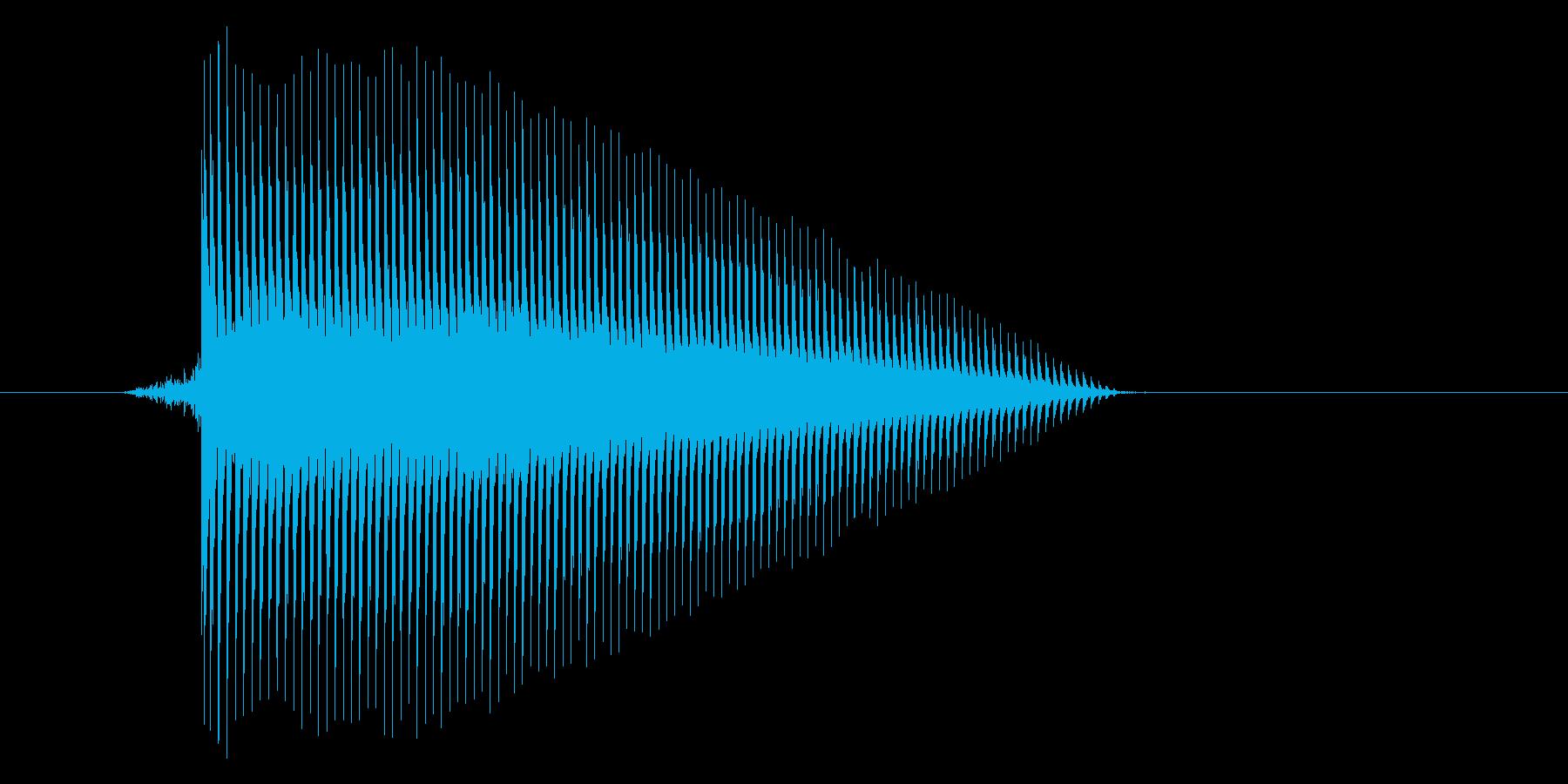 ゲーム(ファミコン風)ジャンプ音_016の再生済みの波形