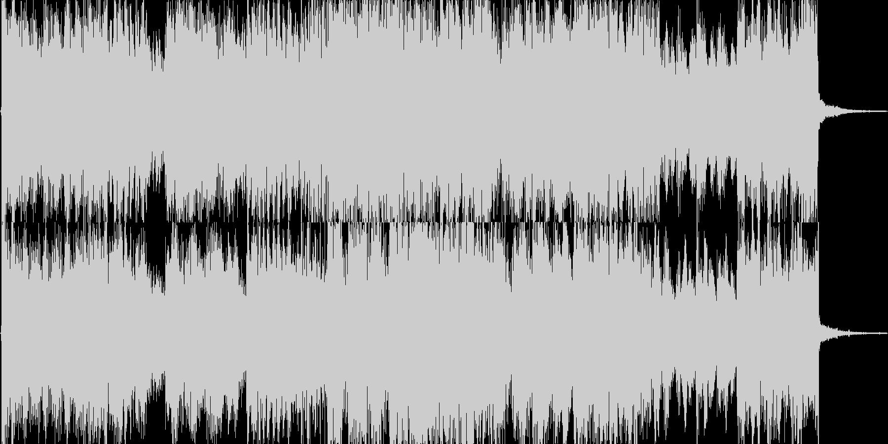 斬新でイメージ先行型のエレクトロポップの未再生の波形
