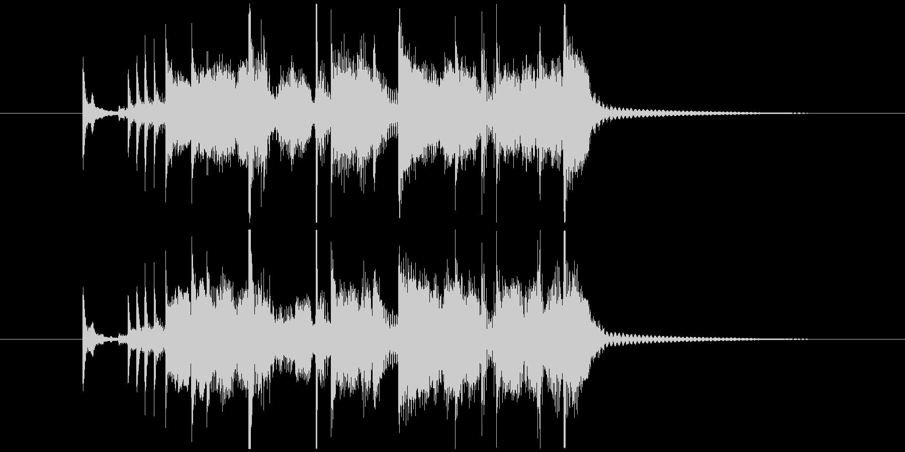 ファンキーなジングルの未再生の波形