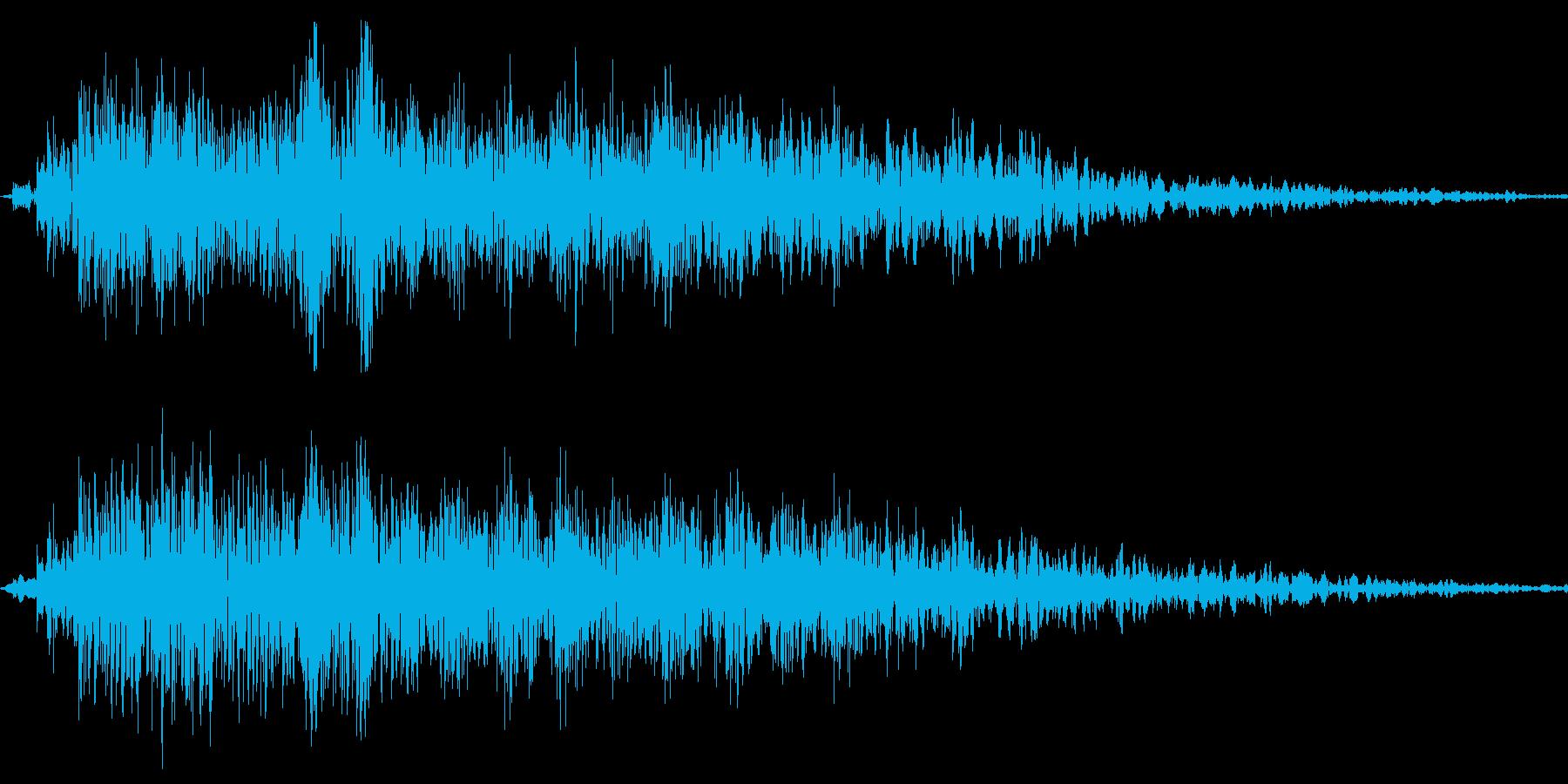 Animal アホなカラスの鳴き声SEの再生済みの波形