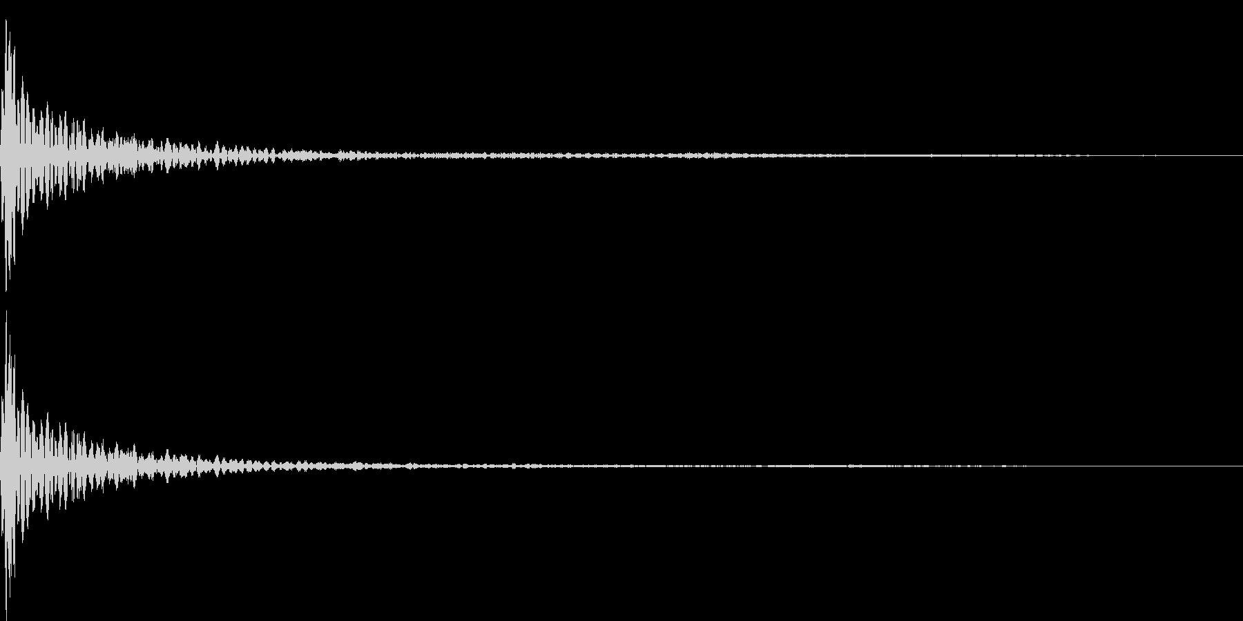 コン(決定、間違い、クリック)の未再生の波形