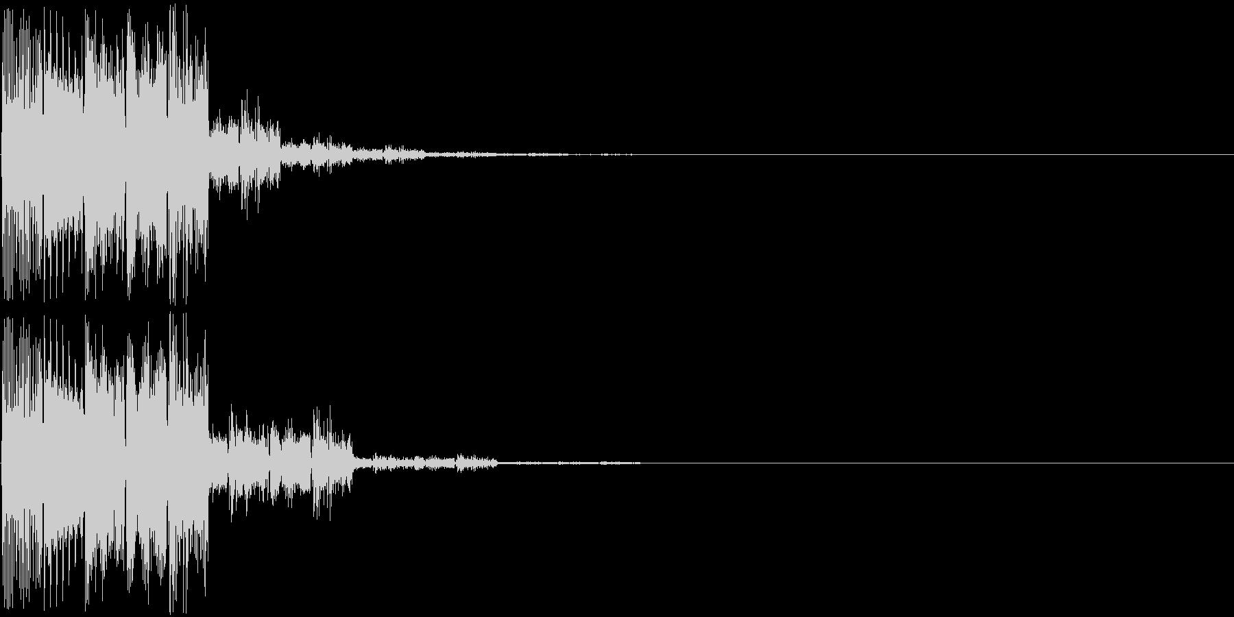 ピロロン(決定音)の未再生の波形