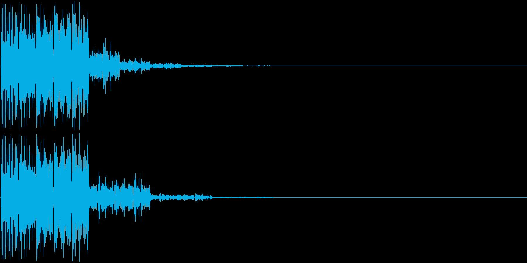 ピロロン(決定音)の再生済みの波形