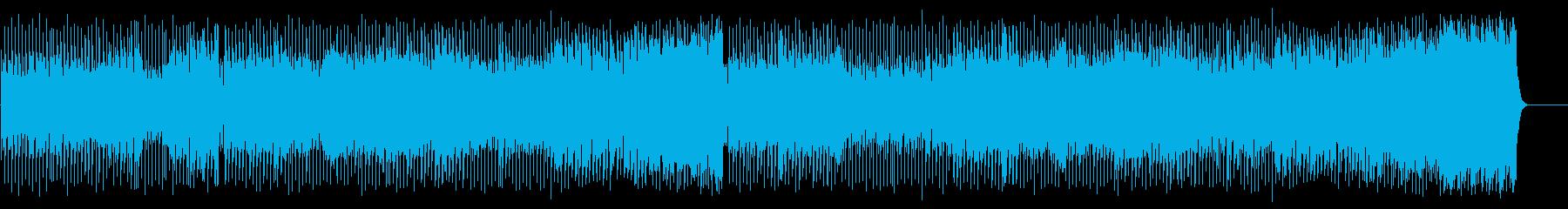 恋の炎のダンサブルなマイナーテクノポップの再生済みの波形