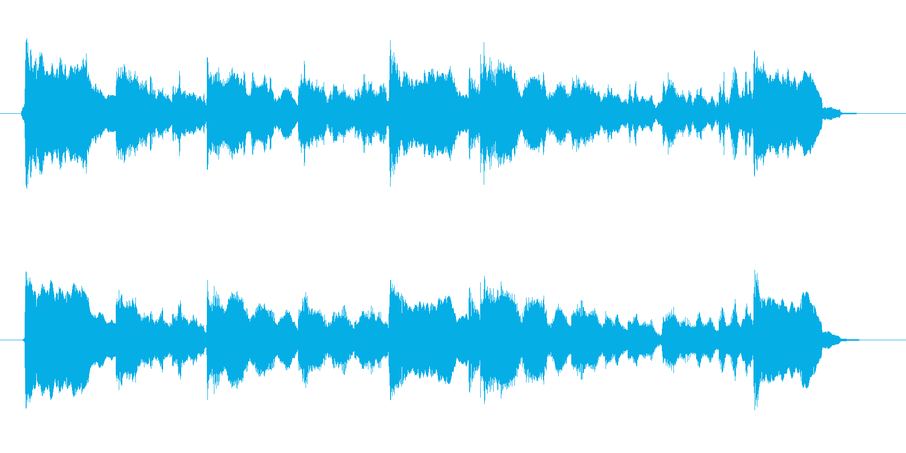 透明感と爽やかなシンセサウンド短めの再生済みの波形