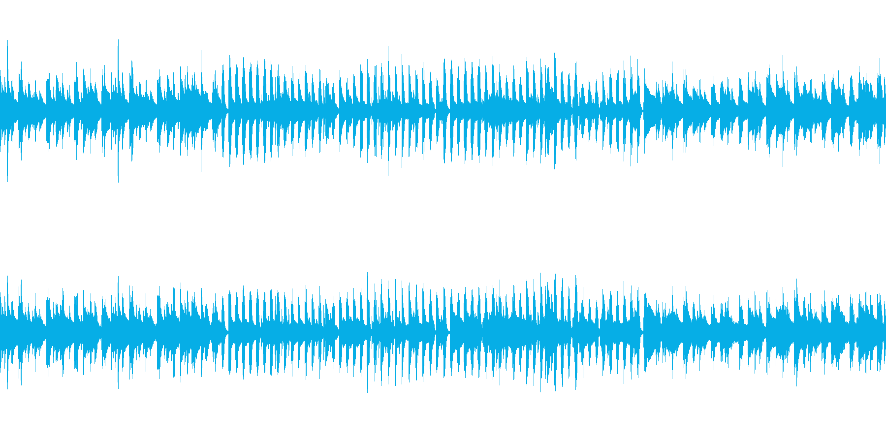 可愛くほのぼのとしたアコースティック曲の再生済みの波形