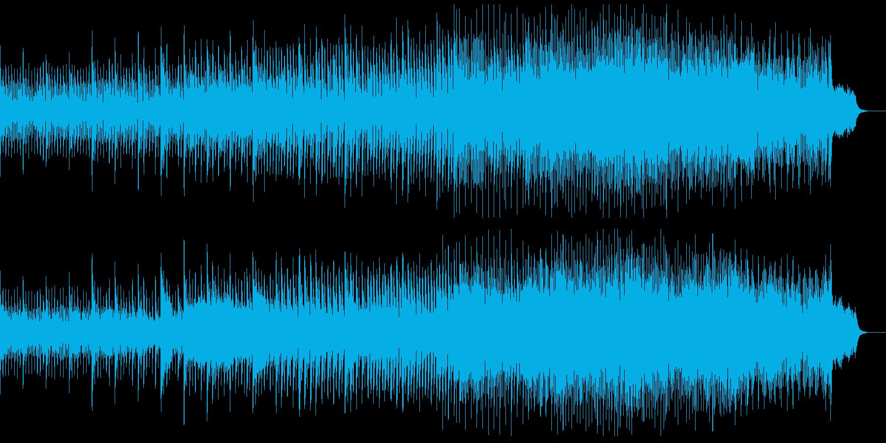 徐々に展開していく、楽しくほのぼのした曲の再生済みの波形