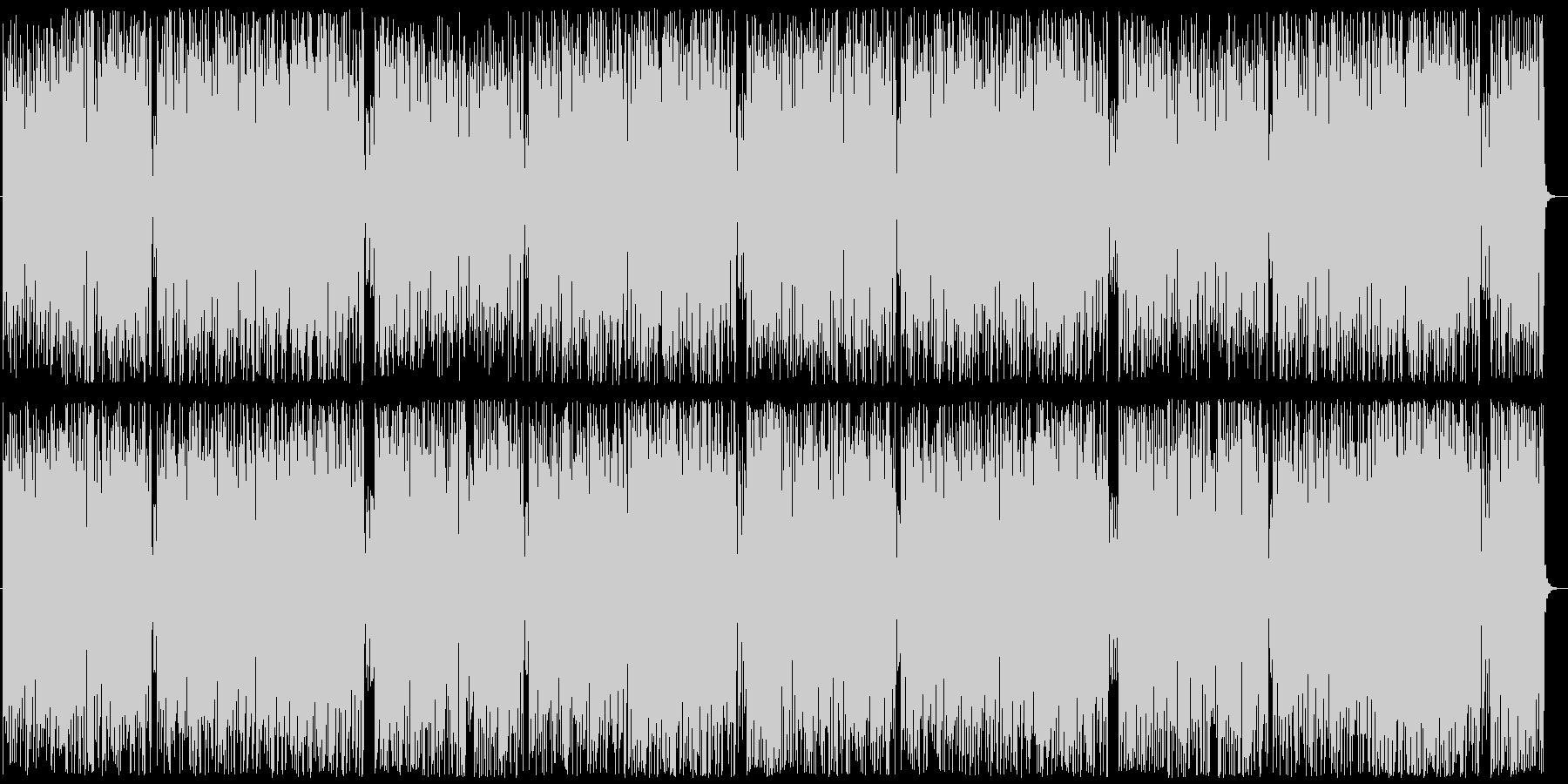 フォルクローレ風の登山シーンの未再生の波形