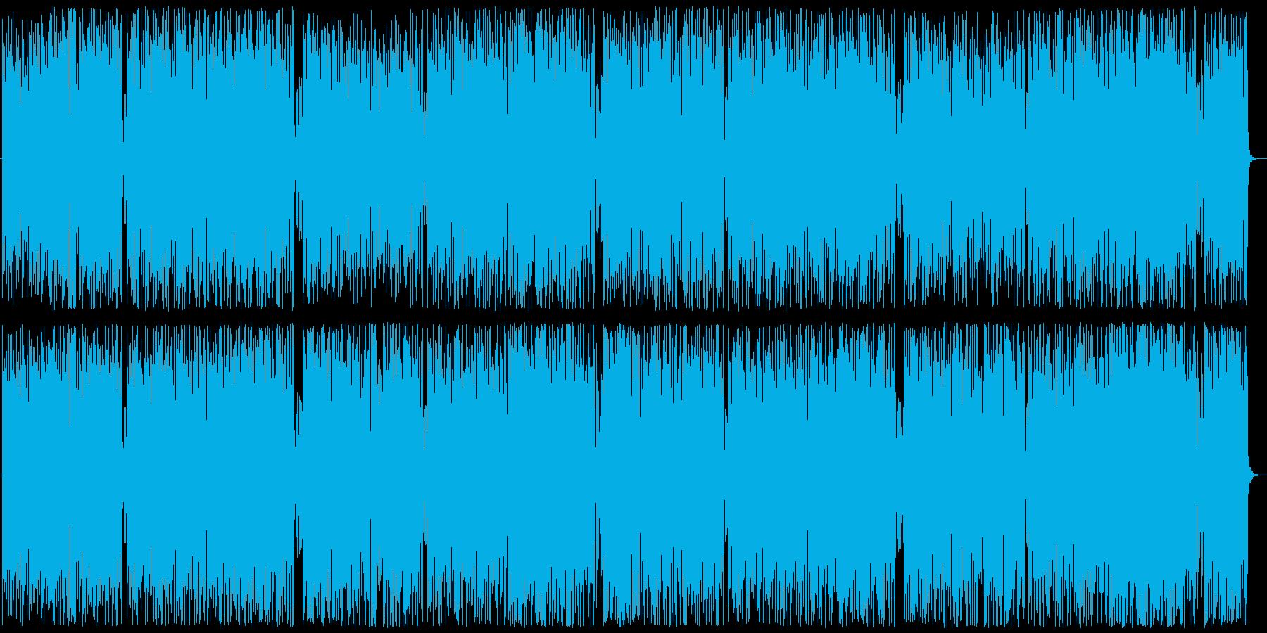 フォルクローレ風の登山シーンの再生済みの波形