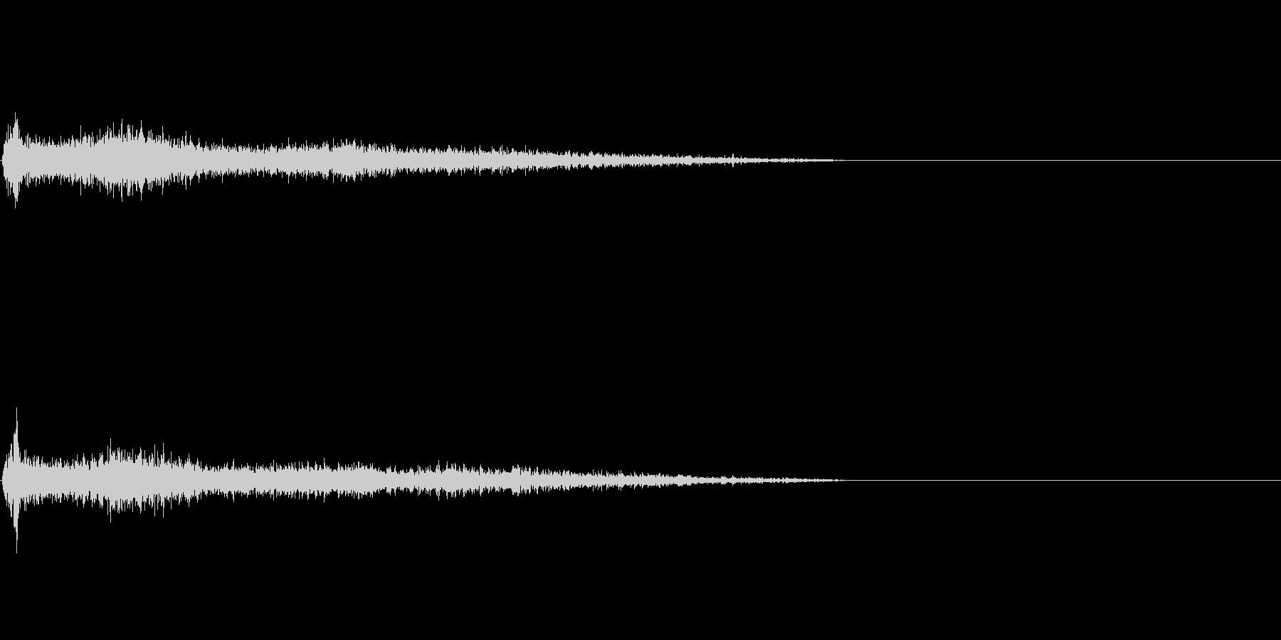 G♯メジャー インパクト音 衝撃音の未再生の波形