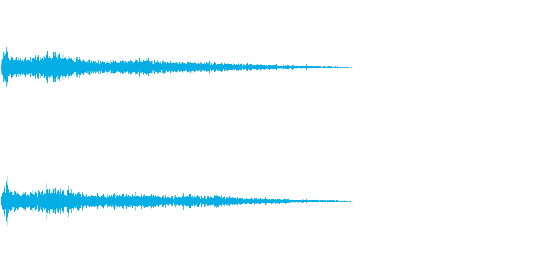 G♯メジャー インパクト音 衝撃音の再生済みの波形