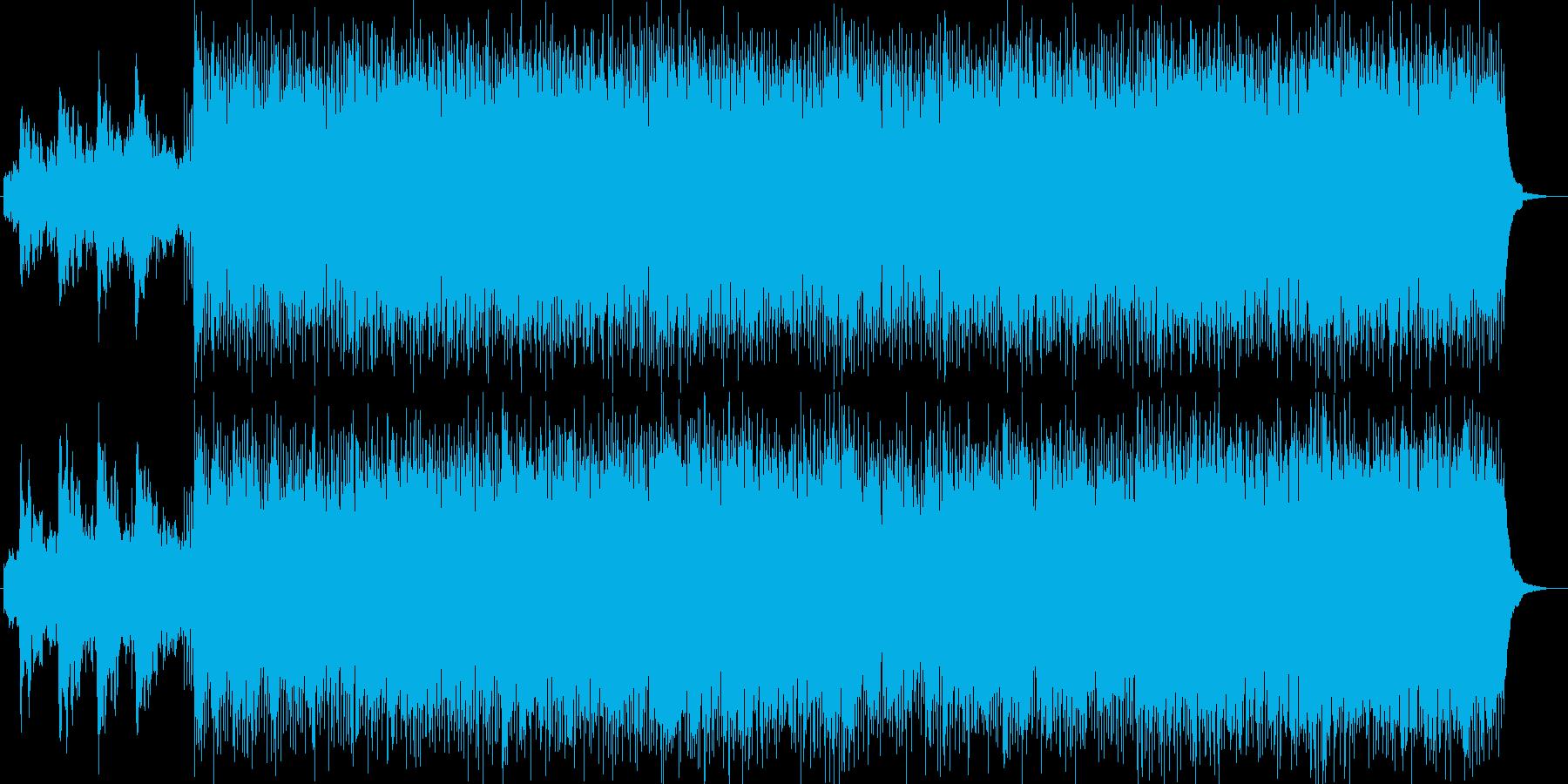 優しいふんわりしたシンセサイザーの曲の再生済みの波形