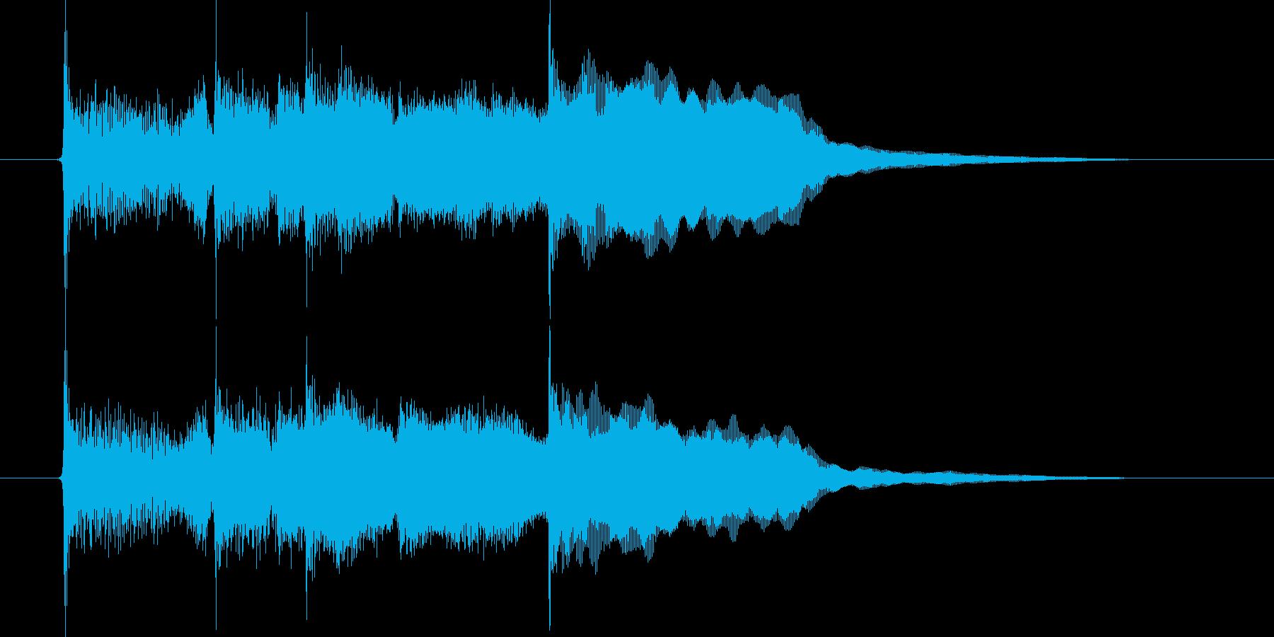 落ち着いたリラクゼーションの音楽の再生済みの波形
