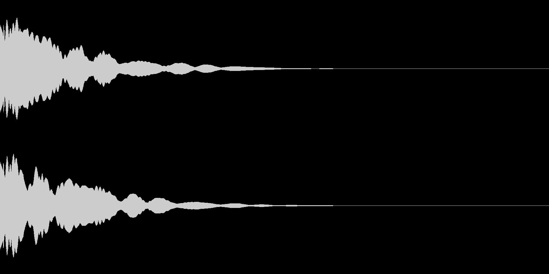ベル/メタル/ヒット/システム/金属の未再生の波形