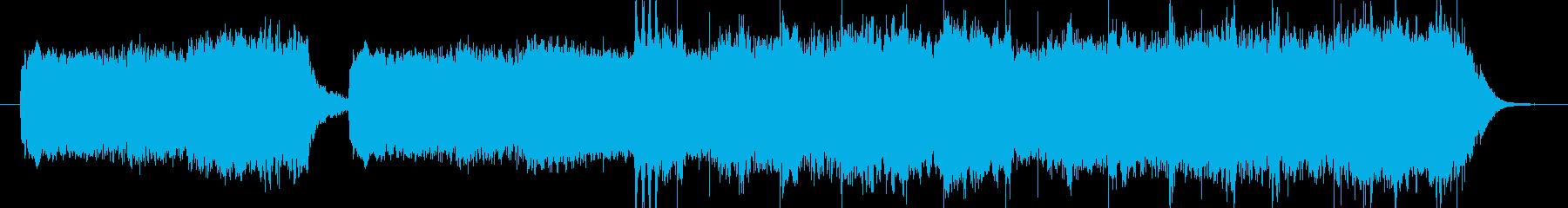 悲しく絶望的なストリングス&コーラス曲の再生済みの波形