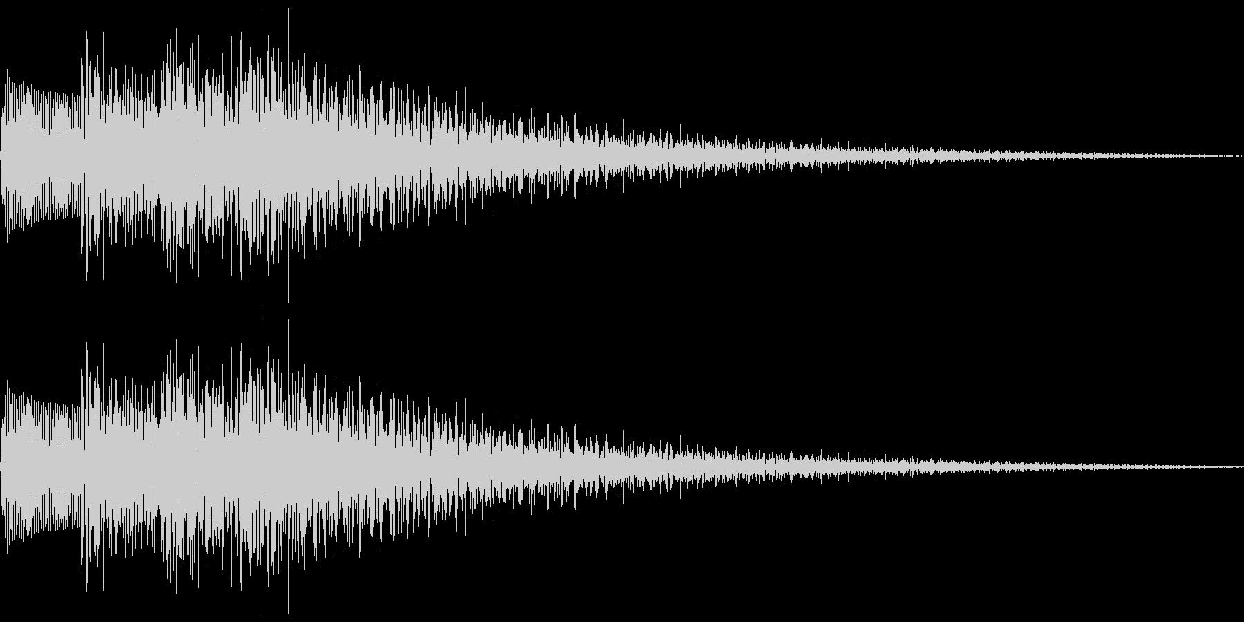 ピロロローン(下降音)の未再生の波形