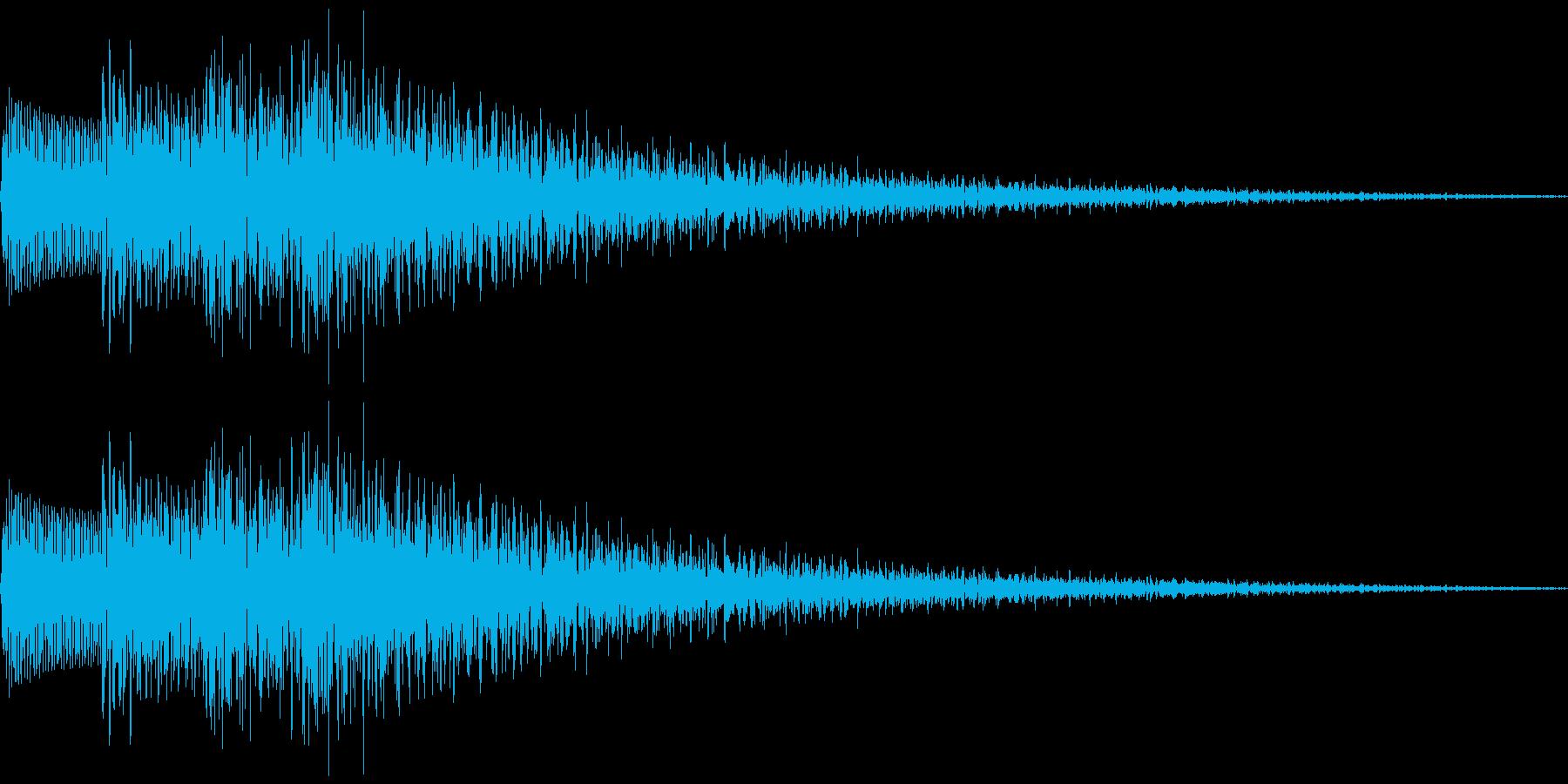ピロロローン(下降音)の再生済みの波形