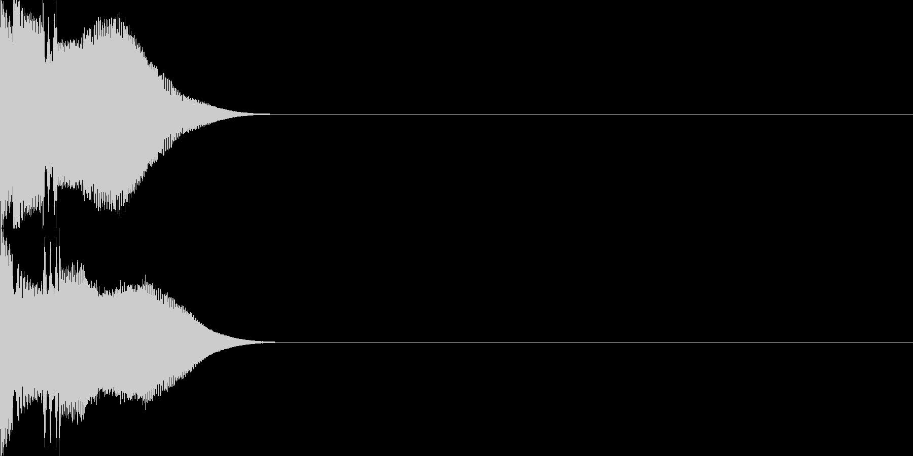 キャンセル音14の未再生の波形