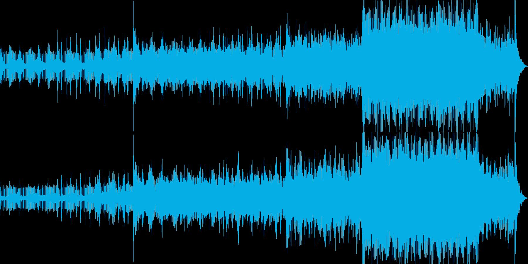映画のオープニングの様なBGMの再生済みの波形