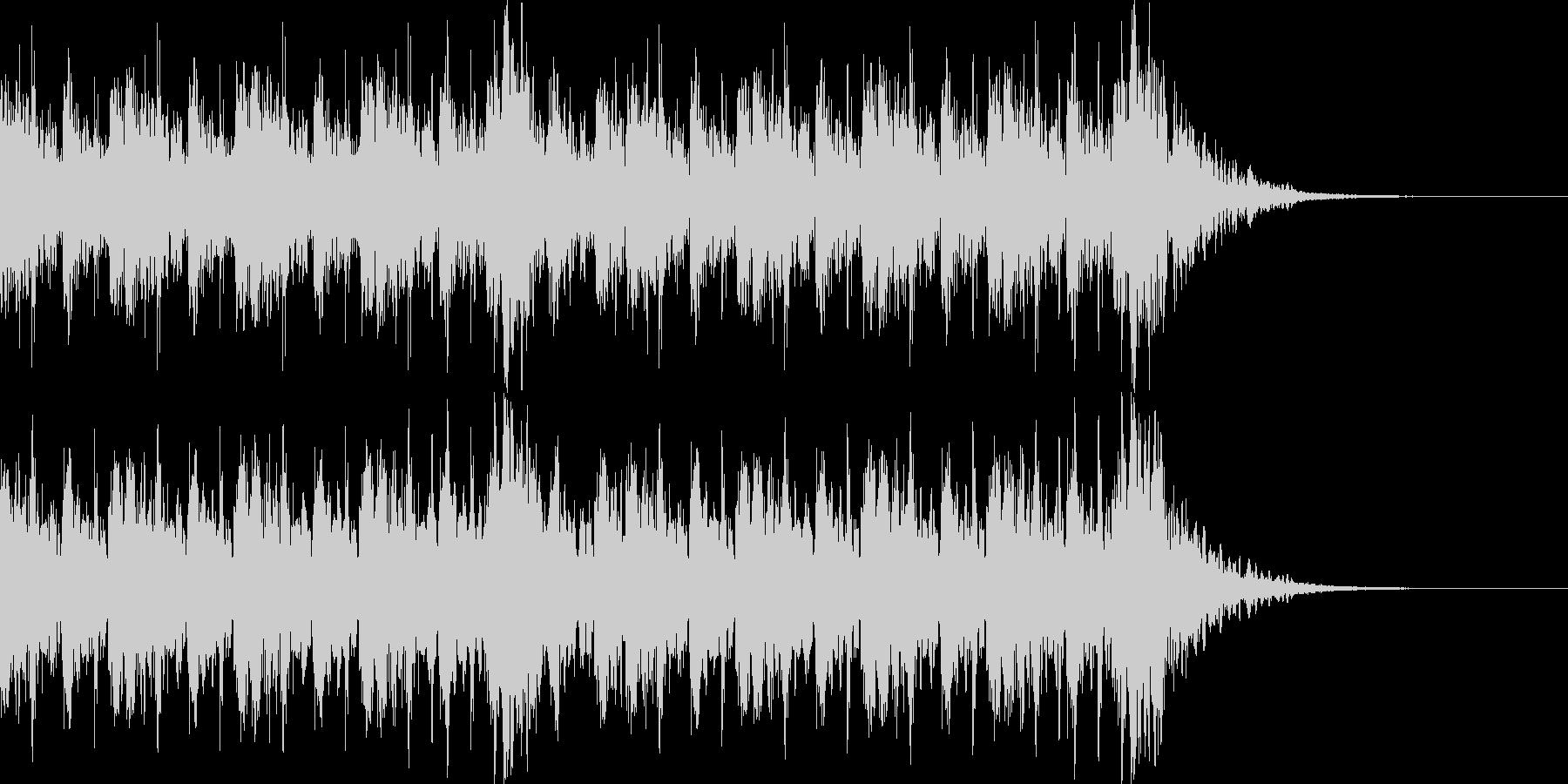 和風 ファンク ジングル 追跡 エレベの未再生の波形