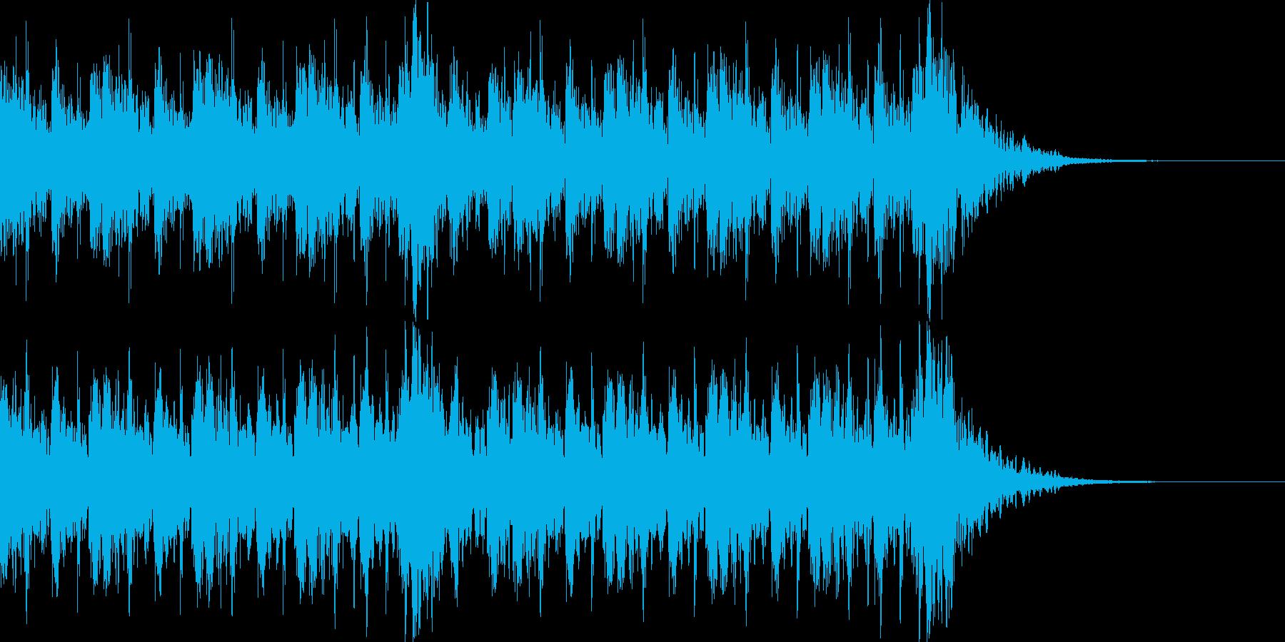 和風 ファンク ジングル 追跡 エレベの再生済みの波形