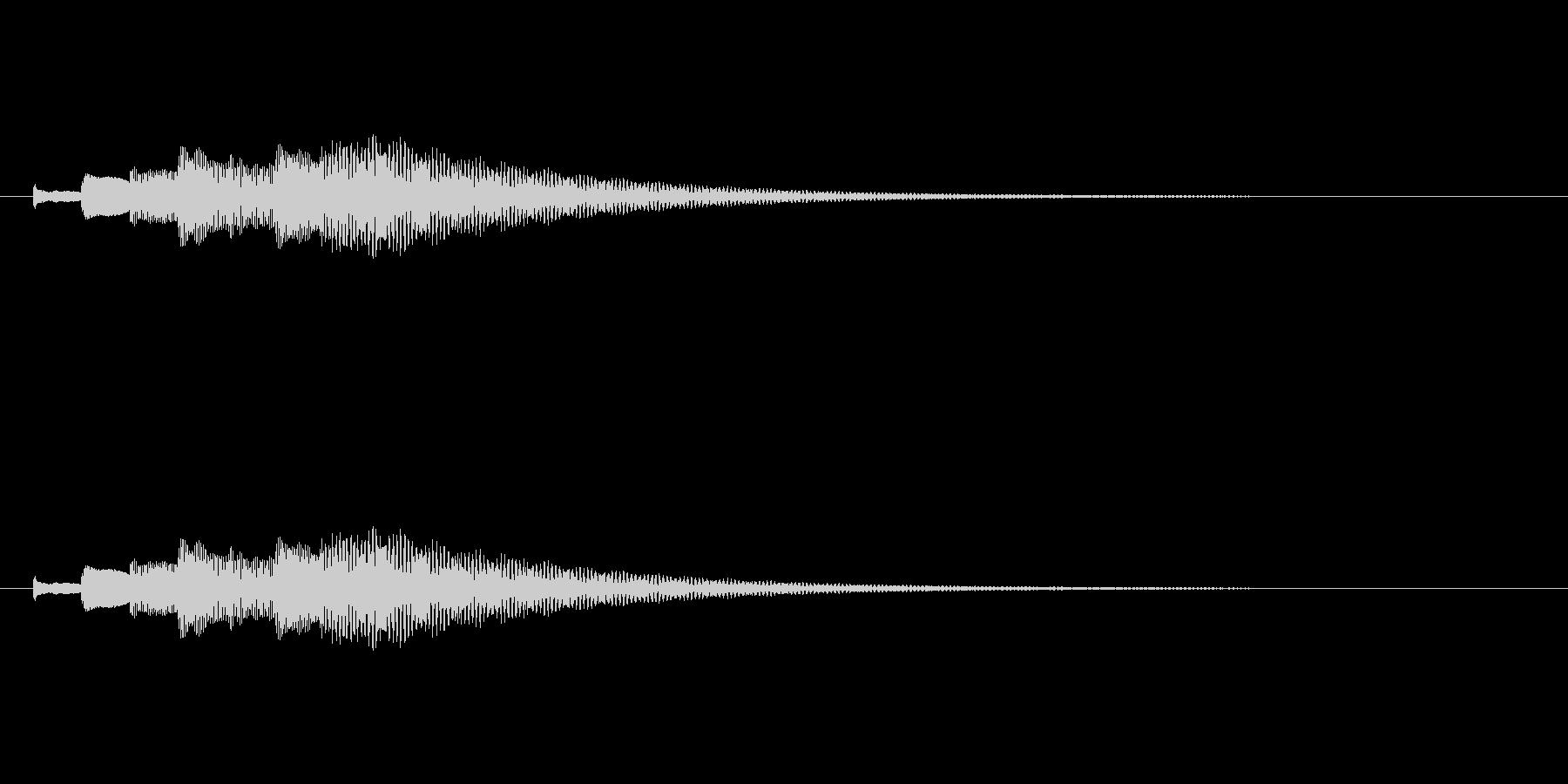 綺麗なチェレスタ下降音/キラキラキラ・・の未再生の波形