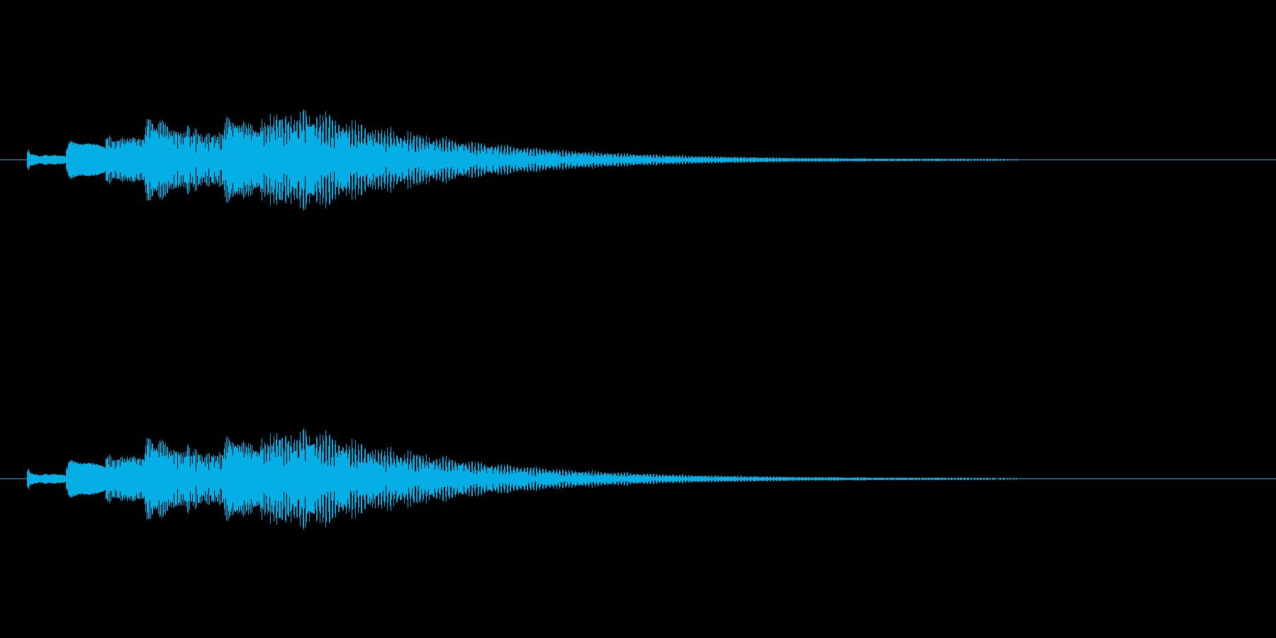 綺麗なチェレスタ下降音/キラキラキラ・・の再生済みの波形