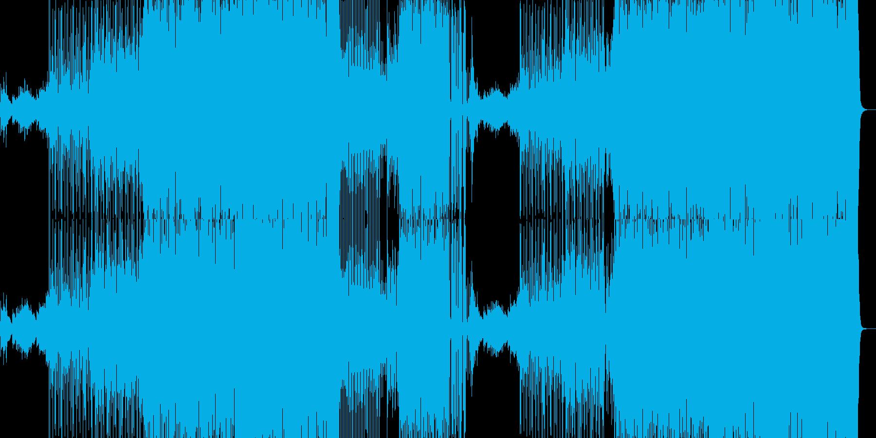 サルサっぽいピアノのラテンダンスBGMの再生済みの波形