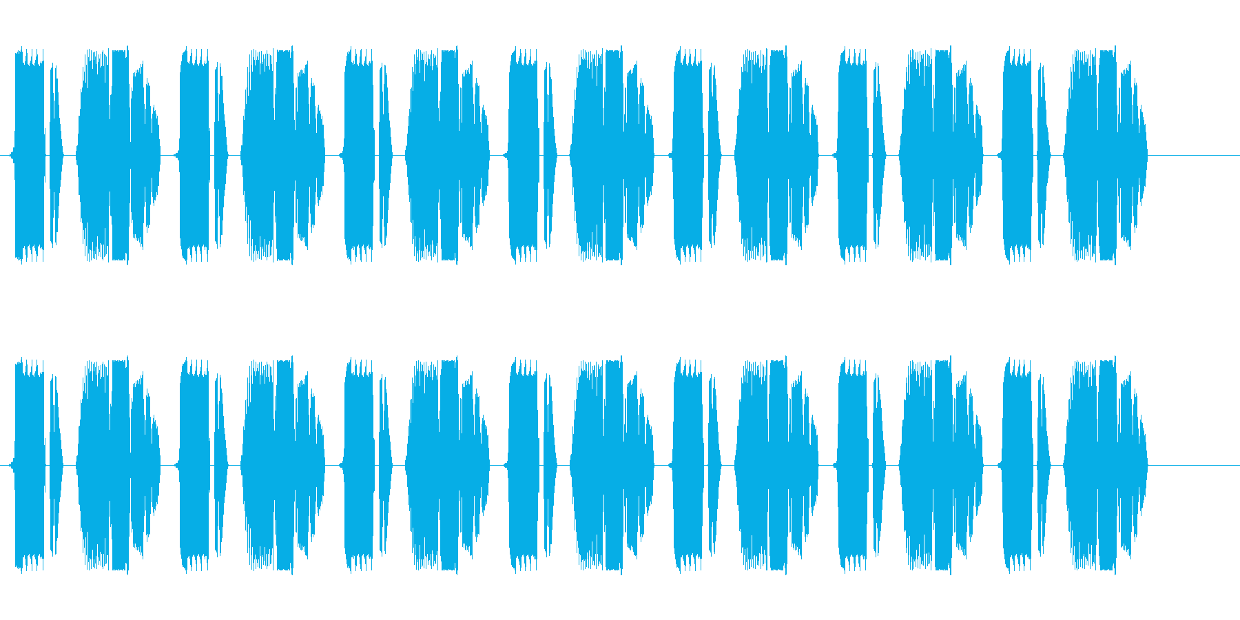ビチョビチョビチョ(歩行)の再生済みの波形